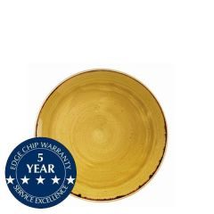 """Churchill Stonecast Mustard Seed Yellow Coupe Plate 6.5"""" / 16.5cm"""