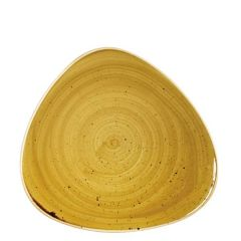 "Churchill Stonecast Mustard Seed Yellow Triangle Plate 9"" / 22.9cm"