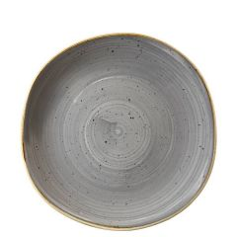 "Churchill Stonecast Peppercorn Grey Organic Round Plate 10.375"" / 26.4cm"