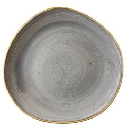 "Churchill Stonecast Peppercorn Grey Organic Round Plate 11.25"" / 28.6cm"