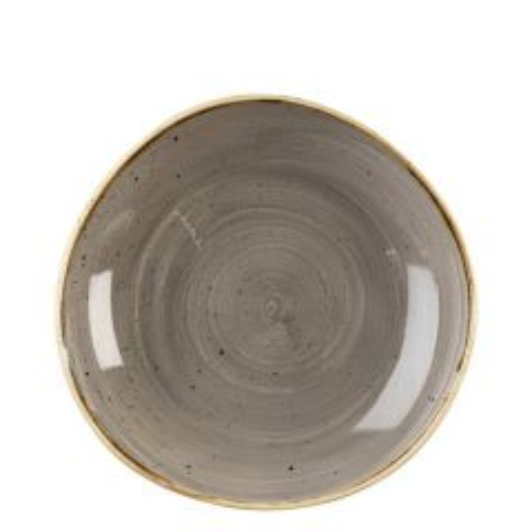"Churchill Stonecast Peppercorn Grey Organic Round Bowl 9.875"" / 25.3cm"