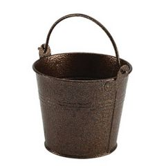 Hammered Copper Antique Finish Galvanised Steel Serving Bucket 17.5oz / 50cl
