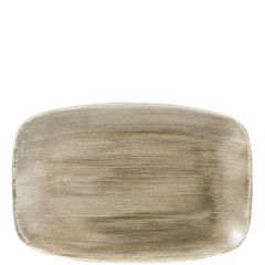 "Churchill Stonecast Patina Antique Taupe Chefs' Oblong Plate No.8, 12x7.8"" / 30x19.9cm"