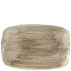 "Churchill Stonecast Patina Antique Taupe Chefs' Oblong Plate No.9, 13.875x9.625"" / 35.5x24.5cm"