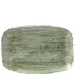 "Churchill Stonecast Patina Burnished Green Chefs' Oblong Plate No.9, 13.875x9.625"" / 35.5x24.5cm"