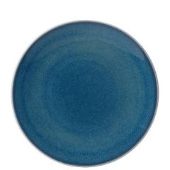 """Royal Crown Derby Art Glaze Candied Sky Coupe Plate 10.5"""" / 27cm"""