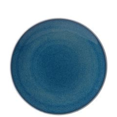 """Royal Crown Derby Art Glaze Candied Sky Coupe Plate 10"""" / 25cm"""