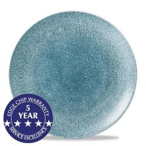 "Churchill Studio Prints Raku Topaz Blue Coupe Plate 11.25"" / 28.8cm"