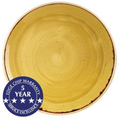 """Churchill Stonecast Mustard Seed Yellow Coupe Plate 12.75"""" / 32.5cm"""