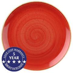 """Churchill Stonecast Berry Red Coupe Plate 12.75"""" / 32.5cm"""