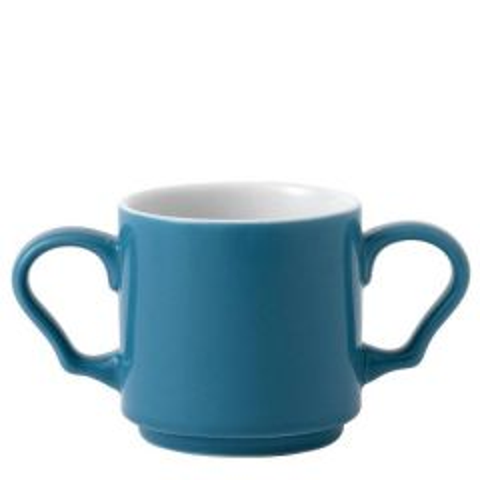 Art De Cuisine Future Care Blue Double Handled Stacking Mug 10oz / 28.4cl