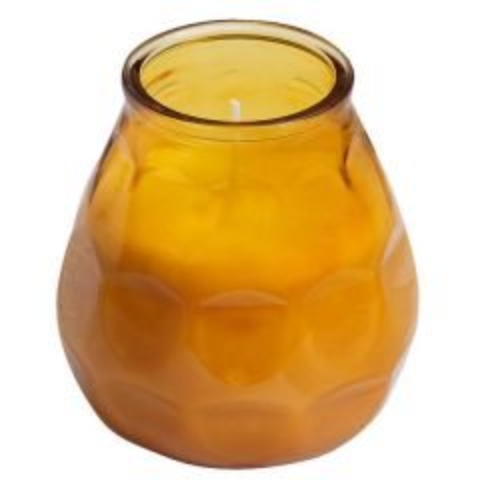 Bolsius Twilight Lowboy Candle Amber