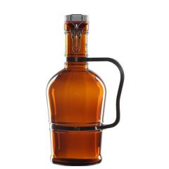 """Amber Glass Zeus Growler with Handle & Ceramic Stopper 13"""" / 33cm, 70oz / 2Ltr"""