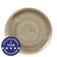 """Churchill Stonecast Patina Antique Taupe Coupe Plate 10.25"""" / 26cm"""