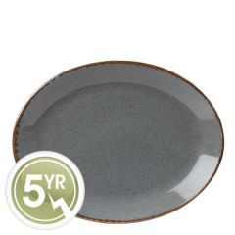 Porcelite Seasons Storm Oval Plate