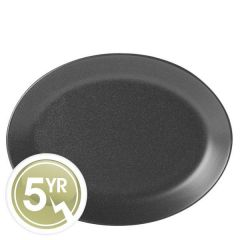 Porcelite Seasons Graphite Oval Plate