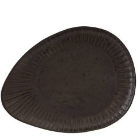 "Rustico Impressions Flint Oval Plate 13.3"" / 34cm"