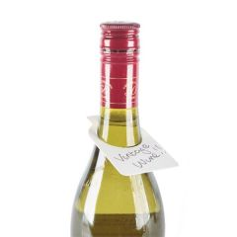 White Plastic Wine Bottle Tags