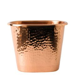 "Solid Copper Hammered Bottle Holder 8.5x6x7"" / 22x15x17.5cm"