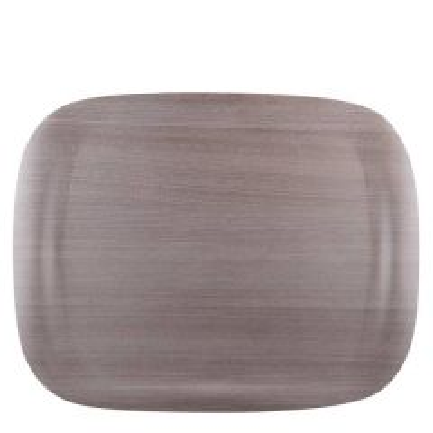 "Roltex Ecological Earth Grey Wood Wave Tray 17x13"" / 43x33cm"