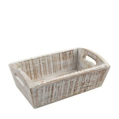 Wooden Nordic White Deep Tray 287x180x100mm