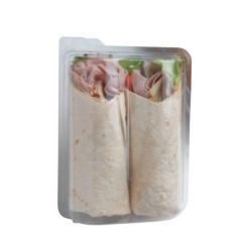 Disposable Plastic Tortilla Blister Pack for 2 Tortillas Wraps