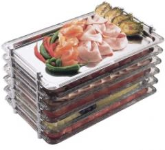 """Stainless Steel Stackable Buffet Tray 1/1 Gastronorm Size 20.9 x 17.8"""" / 53 x 32.5cm"""