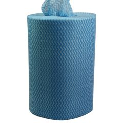 Blue 100% Polyester Everyday Wipe Roll 25x25cm