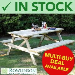 Outside Beer Garden Wooden Bench Table