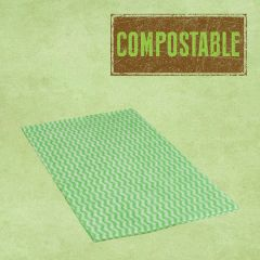 Compostable Envirowipe Green Antibacterial Heavy Weight Cleaning Cloths 50x36cm