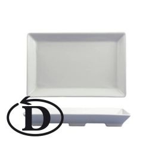 "Clearance Dudson Modus Six Rectangular Dish 9.25x6.125"" / 23.5x15.6cm"