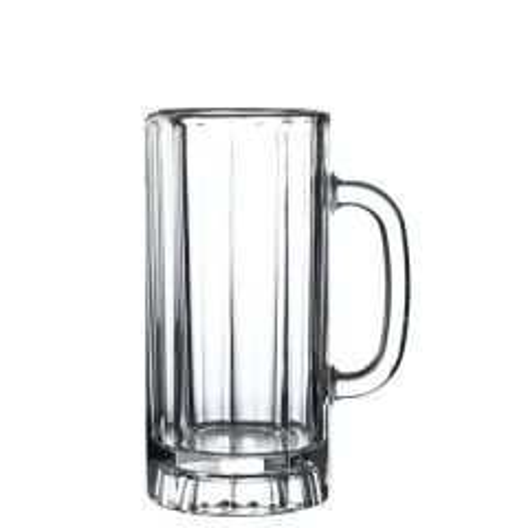 Paneled Glass Beer Mug 12oz / 34cl