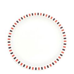 """Harfield Stripes Red Patterned Polycarbonate Plate 9"""" / 23cm"""