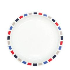 """Harfield Rectangles Patterned Polycarbonate Plate 9"""" / 23cm"""