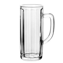 Toughened Moldau 'Pint to Brim' Handled Glass Stein Nucleated CE 20oz / 57cl