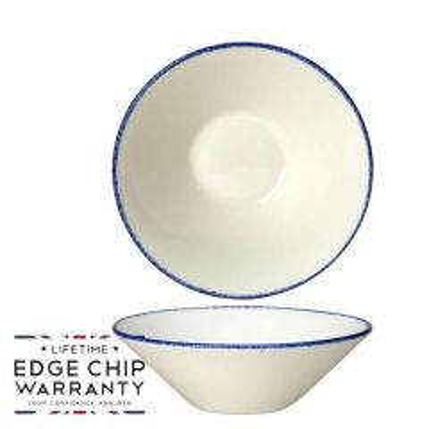 "Steelite Blue Dapple Essence Bowl 6.5"" / 16.5cm"