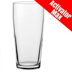 Toughened Jubilee Pint Beer Glass Activator Max CE 20oz / 57cl