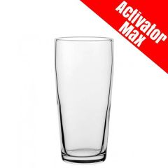 Toughened Jubilee 1/2 Pint Beer Glass Activator Max CE 10oz / 28cl