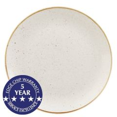 """Churchill Stonecast Barley White Deep Coupe Plate 11"""" / 28.1cm"""