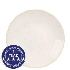"""Churchill Stonecast Barley White Deep Coupe Plate 10"""" / 25.5cm"""