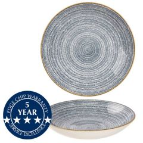 "Churchill Studio Prints Homespun Slate Blue Coupe Bowl 9.75"" / 24.8cm"