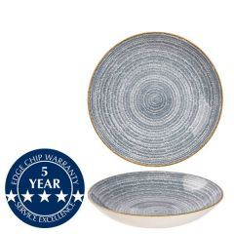 "Churchill Studio Prints Homespun Slate Blue Coupe Bowl 7.25"" / 18.2cm"