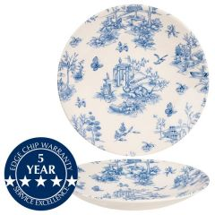 "Churchill Vintage Prints Prague Toile Deep Coupe Plate 11"" / 28.1cm"