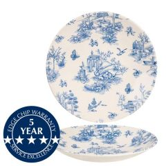 "Churchill Vintage Prints Prague Toile Deep Coupe Plate 10"" / 25.5cm"
