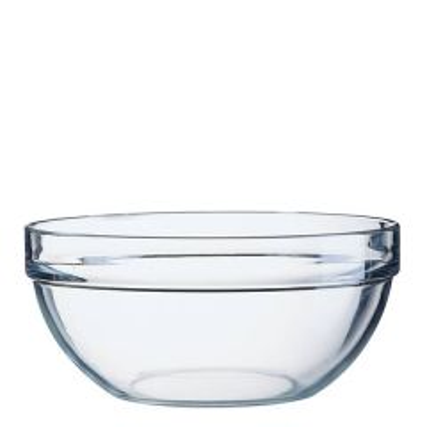 """Stacking Toughened Glass Salad / Mixing Bowl 9"""" / 23cm"""