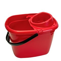 Red Mop Bucket with Wringer 14Ltr