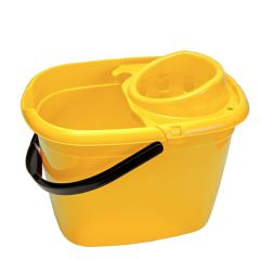 Yellow Mop Bucket with Wringer 14Ltr