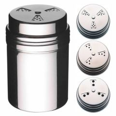 Adjustable Shaker Stainless Steel 8cm with Small, Medium & Large Holes