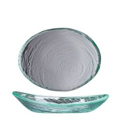 "Steelite Scape Clear Glass Oval Bowl 8"" / 20cm"