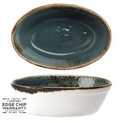 "Steelite Craft Blue Oval Baker 6.25"" / 15.75cm"